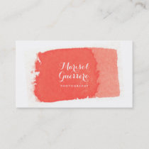Watercolor Brush Stroke Creative Business Card