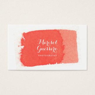 Watercolor Brush Stroke Creative Business Card