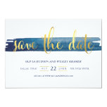 Watercolor Brush Stroke Foil Save the Date Card