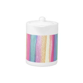 Watercolor Brush Strokes Pastels colors lines Teapot