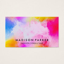 Watercolor Brushed Business Card