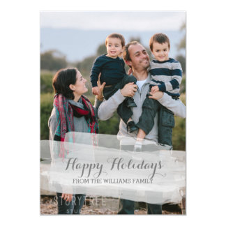 Watercolor Brushstroke Holiday Photo Card