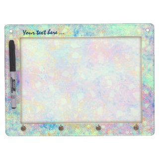 Watercolor Bubbles dry erase board