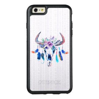 Watercolor Bull Head Skull Flowers OtterBox iPhone 6/6s Plus Case