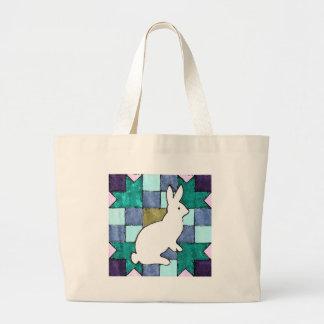 Watercolor Bunny Canvas Bags