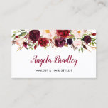 """Watercolor Burgundy Floral Facebook Instagram Logo Business Card<br><div class=""""desc"""">Create your own Business Card with this stylish &quot;Watercolor Burgundy Red Floral&quot; template. It&#39;s easy and fun! (1) For further customization, please click the &quot;customize further&quot; link and use our design tool to modify this template. (2) If you prefer thicker papers, you may consider to choose the Signature or Premium...</div>"""