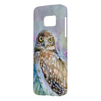 Watercolor Burrowing owl Athene cunicularia Samsung Galaxy S7 Case