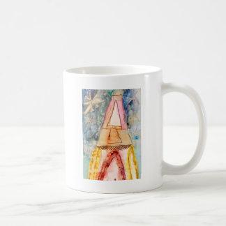 Watercolor Burst Rocket Ship Coffee Mug