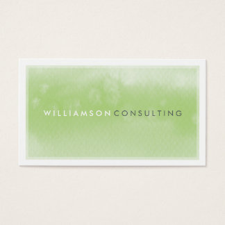 WATERCOLOR BUSINESS CARD :: modern trendy green