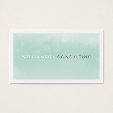 Professional Business WATERCOLOR BUSINESS CARD :: modern trendy mint