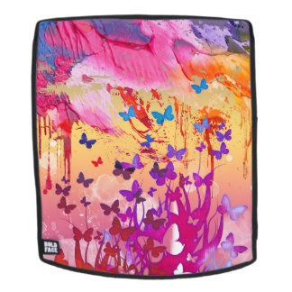 Watercolor Butterflies  Adult Backpack, Face Only Backpack