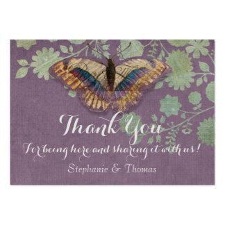 Watercolor Butterflies w Modern Floral Pattern Business Cards