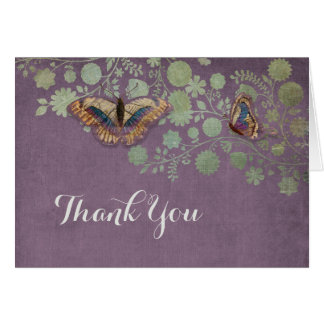 Watercolor Butterflies w Modern Floral Pattern Greeting Cards