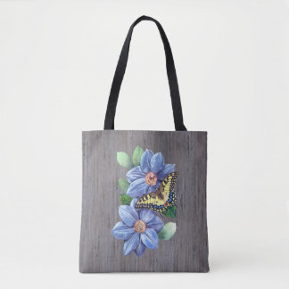 Watercolor Butterfly All-Over-Print Tote Bag