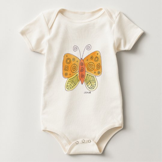 Watercolor Butterfly Baby Bodysuit