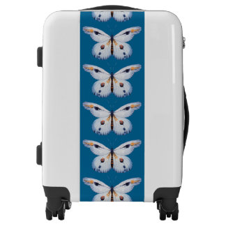 Watercolor BUTTERFLY blue orange + your ideas Luggage