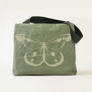 Watercolor BUTTERFLY blue orange + your ideas Tote