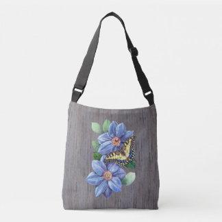 Watercolor Butterfly Cross Body Bag