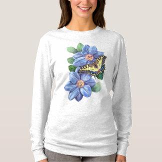 Watercolor Butterfly Long Sleeve T-Shirt