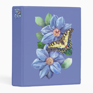 Watercolor Butterfly Mini Binder