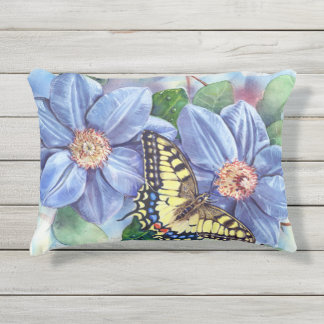 Watercolor Butterfly Outdoor Accent Pillow
