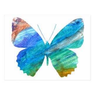 Watercolor Butterfly Postcard