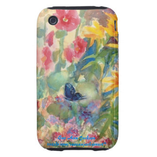 Watercolor Butterfly Tough iPhone 3 Covers