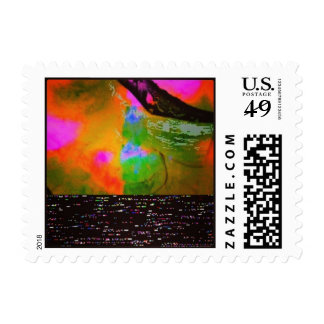 Watercolor By Night Postage Stamp