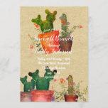Watercolor CACTI Farewell Party Rustic Invitations