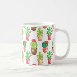Watercolor Cactuces Pattern Coffee Mug