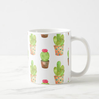 Watercolor Cactuces Pattern Coffee Mug