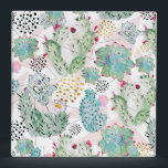 """watercolor cactus and triangles pattern binder<br><div class=""""desc"""">Stylish,  vibrant watercolors cactus,  Succulent plant paint and misplaced triangles,  geometric shapes with a touch of faux gold and black circle dots,   hand drawn,  tropical,  shades of green,  blue,  pink,  bush,   yellow,  red,  white,  black and grey colors,  original paint,  abstract artwork,  design.</div>"""