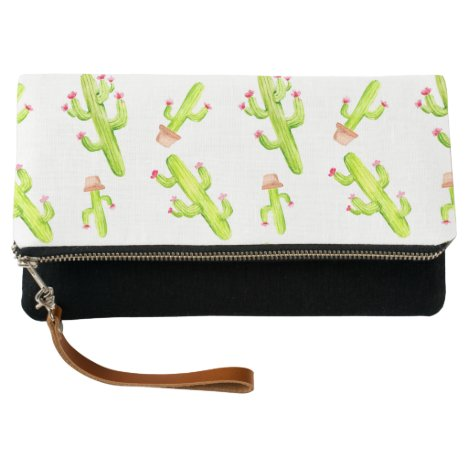 watercolor cactus cacti succulents greenery lush clutch