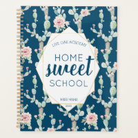 Watercolor Cactus Homeschool Teacher Student Planner