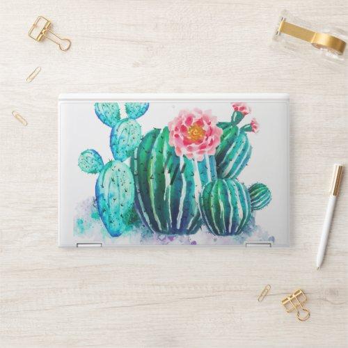 watercolor Cactus HP Laptop Skin