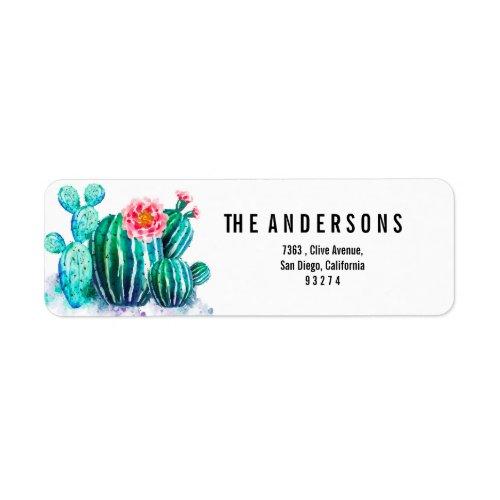 watercolor Cactus Label