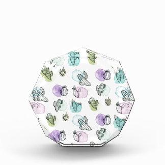 watercolor cactus pattern award