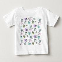watercolor cactus pattern baby T-Shirt