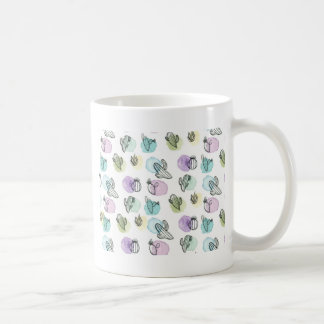 watercolor cactus pattern coffee mug