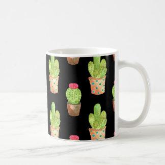 Watercolor Cactus Pattern Illustration Coffee Mug