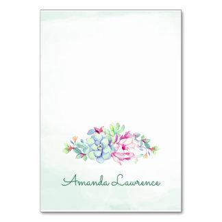 Watercolor Cactus & Succulents Place Cards