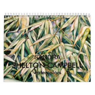 Watercolor Calendar by Sandra Shelton Campbell