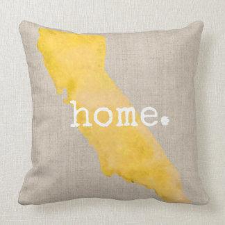 Watercolor California Home | Throw Pillow