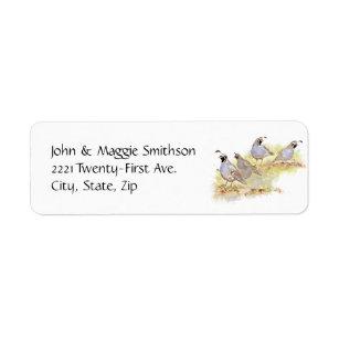 quail return address labels zazzle