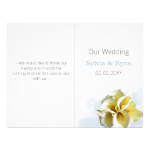 watercolor calla lilies  bi fold Wedding program