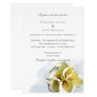 Watercolor calla lilies Floral Invitations