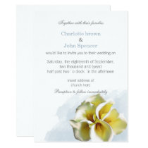 Watercolor calla lilies Floral Invitations