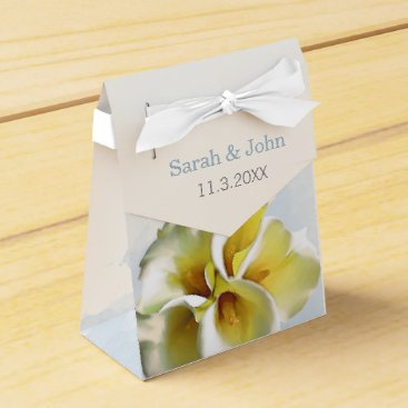 watercolor calla lilies Floral Wedding favor box