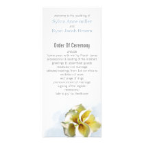 watercolor calla lilies Floral Wedding programs