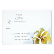 watercolor calla lilies Floral wedding RSVP Card